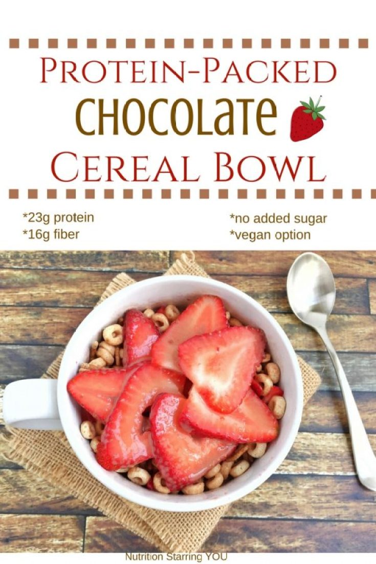 Protein-Packed Chocolate Cereal Bowl