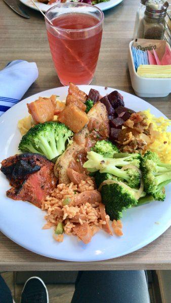 Norwegian Escape Garden Cafe buffet