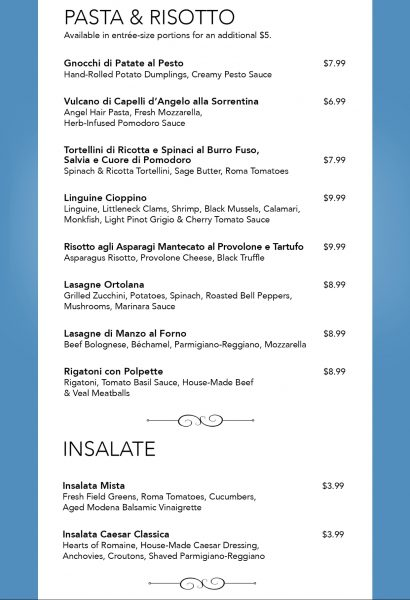 La Cucina menu Norwegian Escape