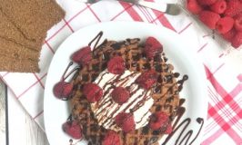 Chocolate Raspberry GG Fiber Waffles