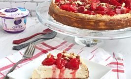 Strawberry Greek Yogurt Cheesecake