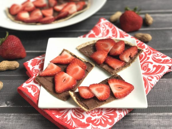 PB Chocolate Strawberry Protein Flatbread