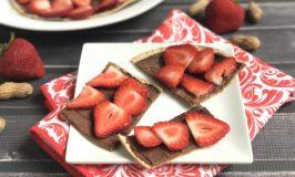 PB Chocolate Strawberry Protein Flatbread