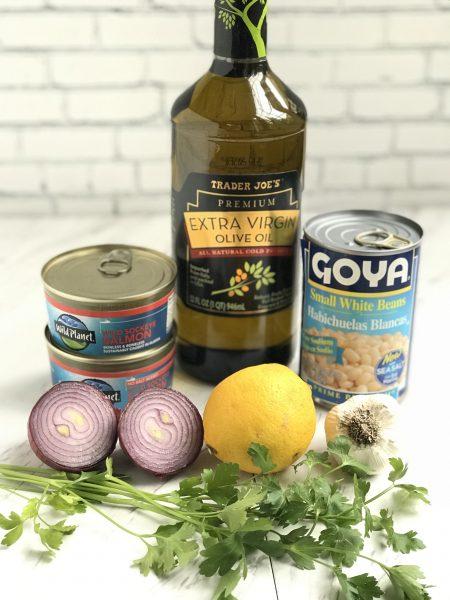 Mediterranean Salmon Salad ingredients
