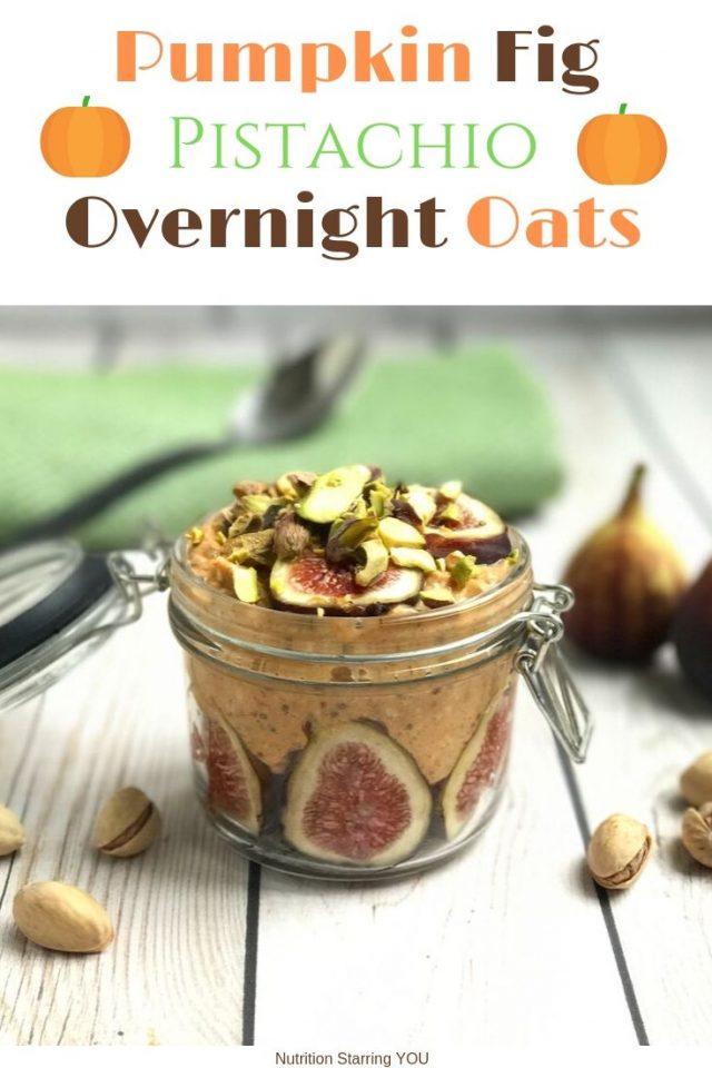 Pumpkin Fig Pistachio Overnight Oats