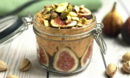 Pumpkin Fig Pistachio Overnight Oats