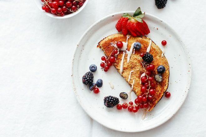 Sweet Omelette with Red Currants