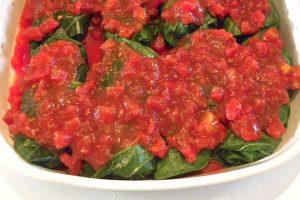 Stuffed Collards Rolls With Tomato Sauce Recipe