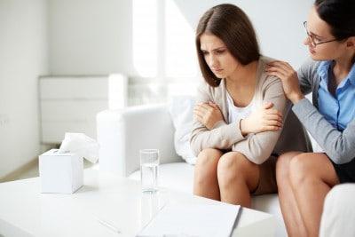 Depressed woman, mental health