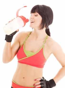 girl whey protein shake