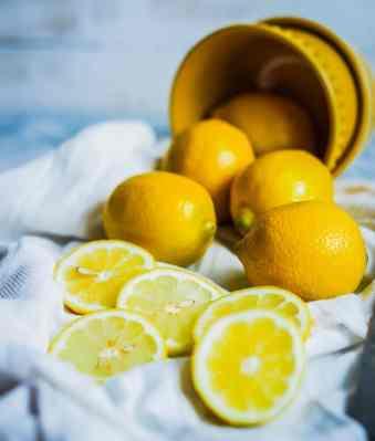 Lemons and a pail