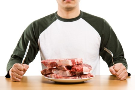 Man with Raw Meat