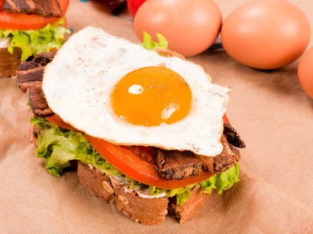 Egg on a sandwich