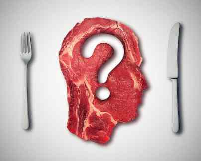 estions concept or diet nutrition decisions