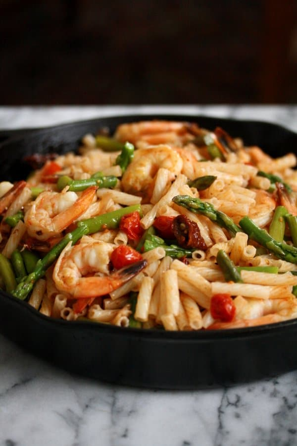 Spicy Shrimp Salad with Asparagus