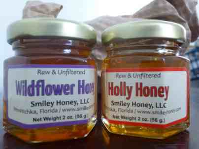 Wildflower and holly honey