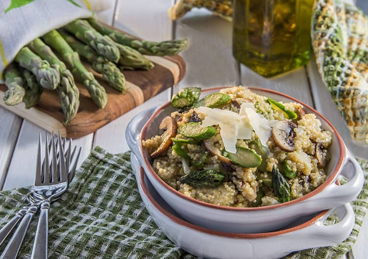 Spring Quinoa with Asparagus and Parmesan