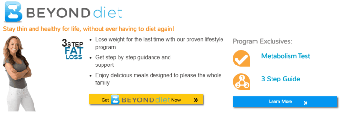 Beyond Diet signup