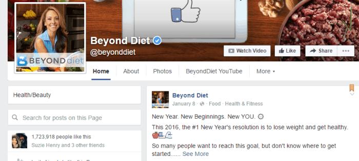 Beyond Diet Facebook