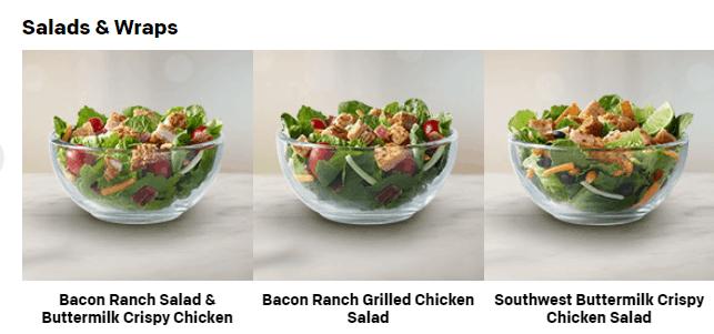 McDonalds salads
