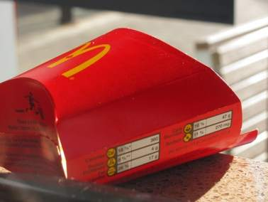 McDonalds Fries Container