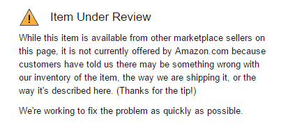 Item under review