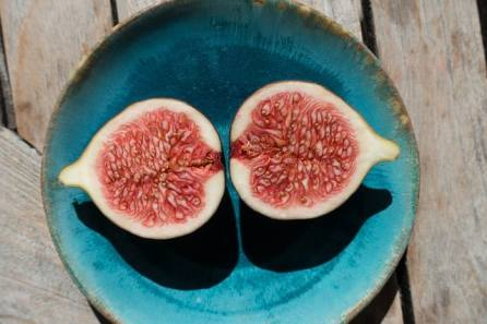 Sliced open fig
