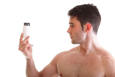 Man with supplements