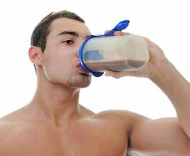 Man drinking a shake