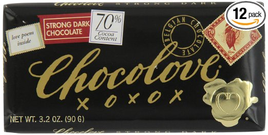 Chocolove Chocolate Bar, 70% Strong Dark