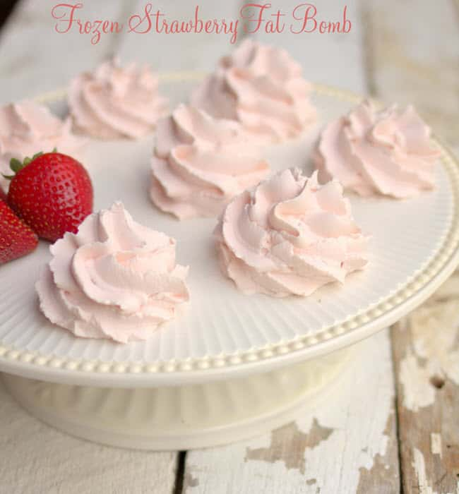 Frozen Strawberry Fat Bomb