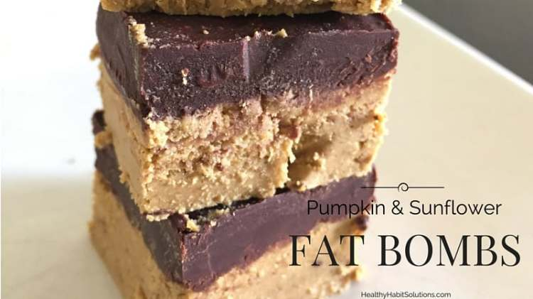 Pumpkin and Sunflower Seed Butter Fat Bombs