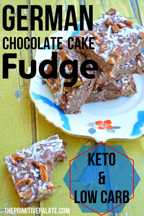 German Chocolate Cake Keto Fudge