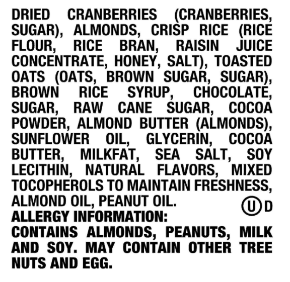 Goodness Knows Ingredients