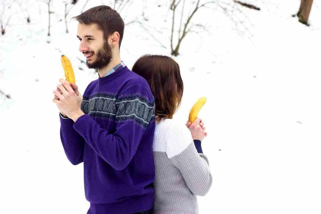 Couple with Bananas