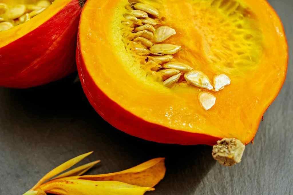 Pumpkin with seeds