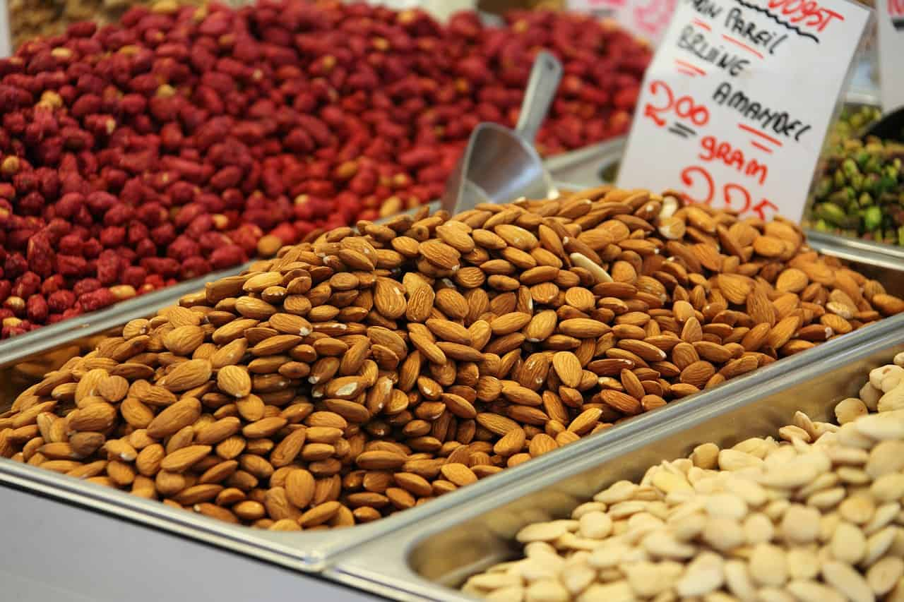 Choosing almonds