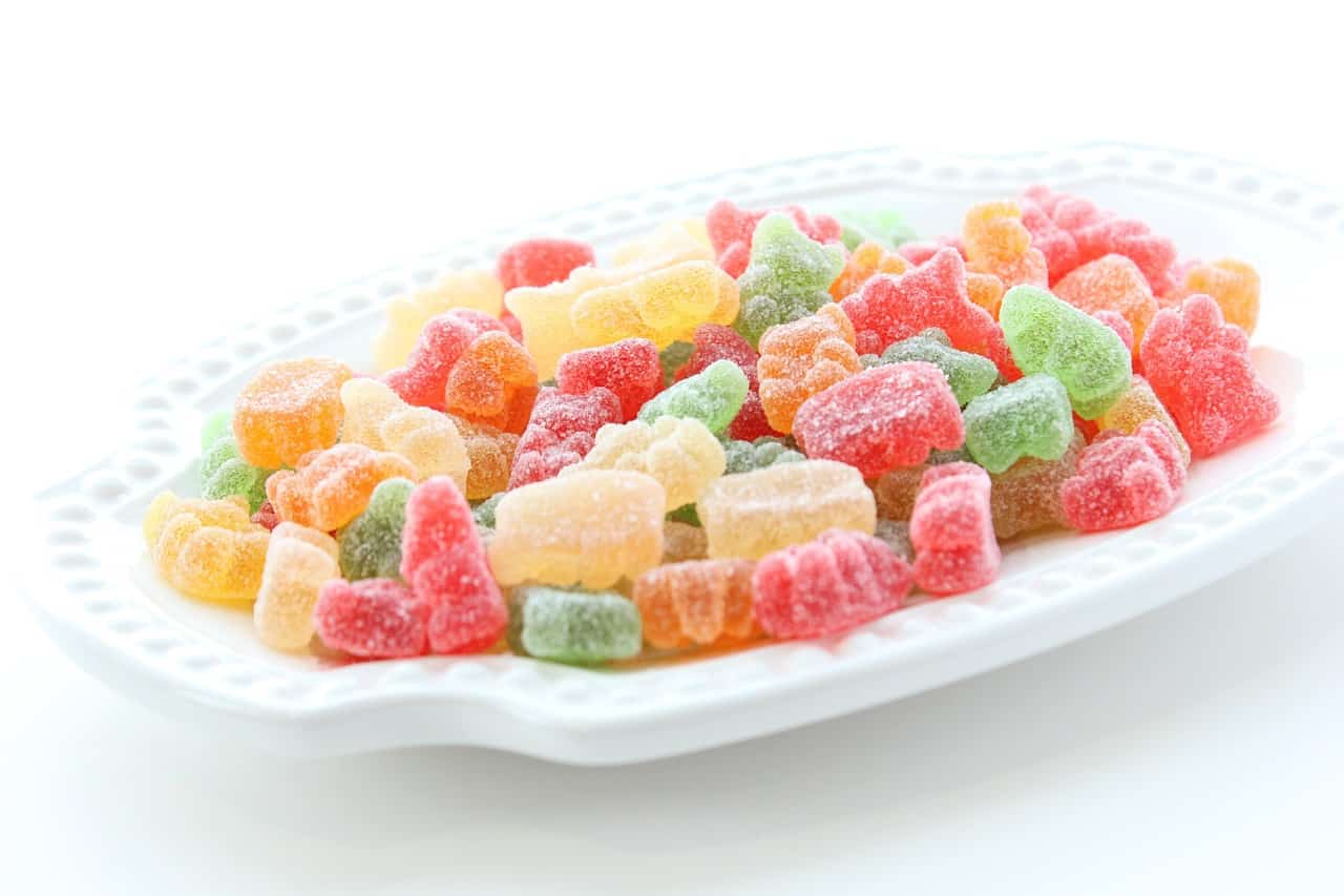 Tray of gummies