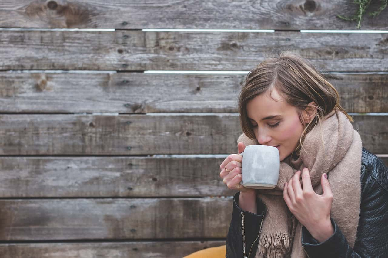 Woman with a mug of coffee
