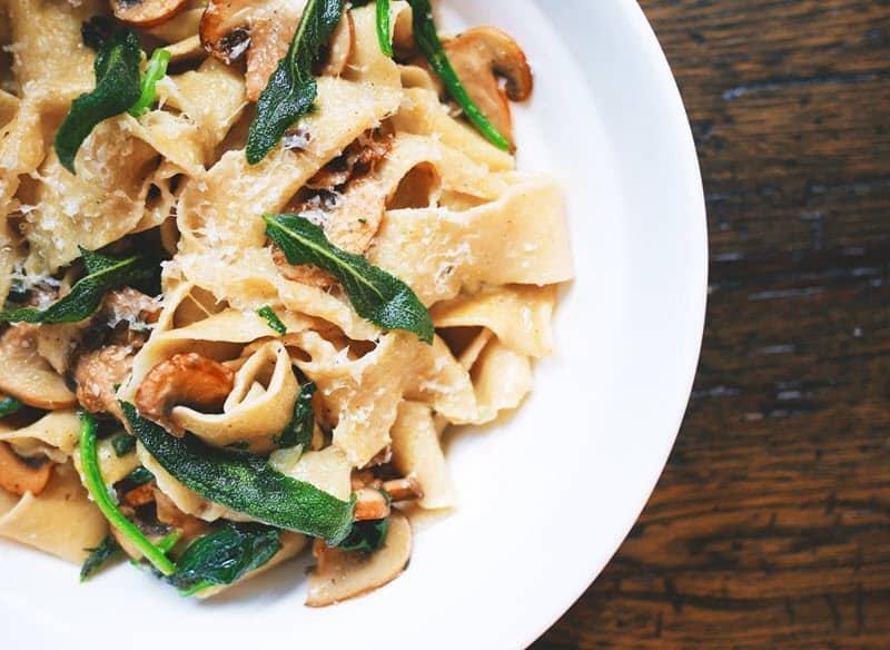 Mushroom in pasta
