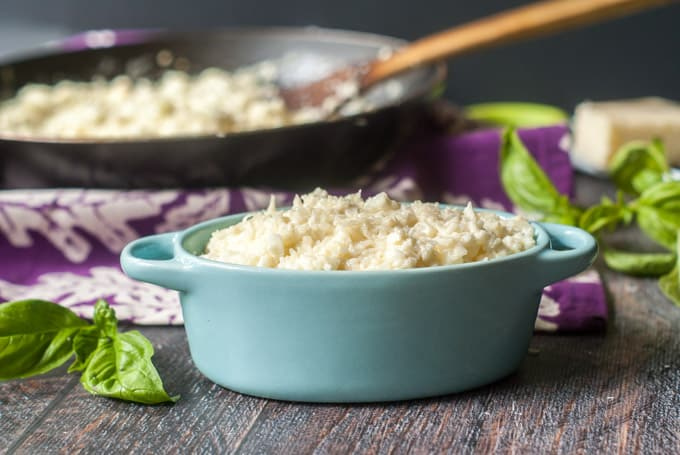 Easy Asiago Cauliflower Rice