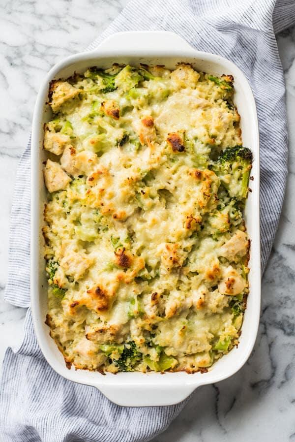 Broccoli Cauliflower Rice Chicken Casserole 2