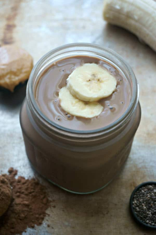 Chocolate Peanut Butter Protein Smoothie 2