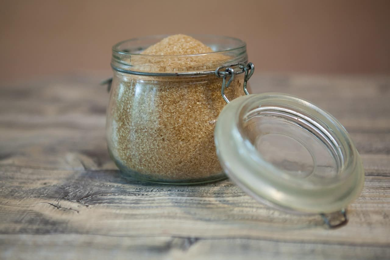 Brown sugar in a jar
