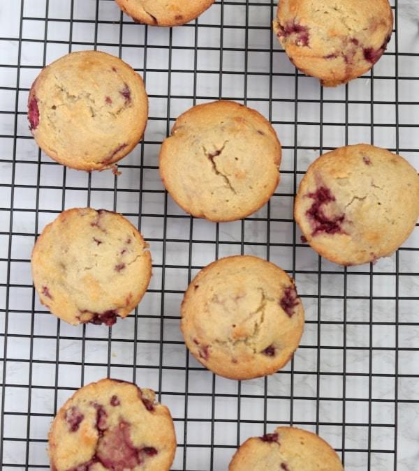 Almond Flour Lemon Raspberry Muffins Recipe
