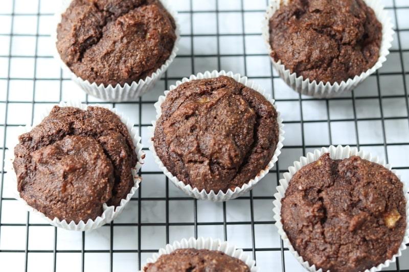 Chocolate Banana Paleo Muffins