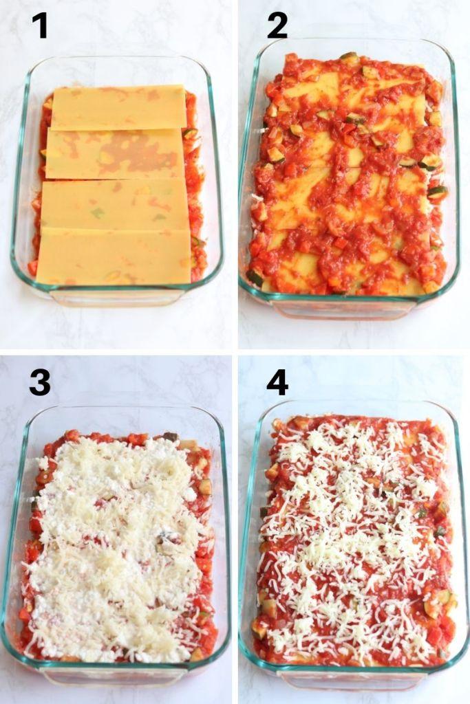 assemble lasagna steps