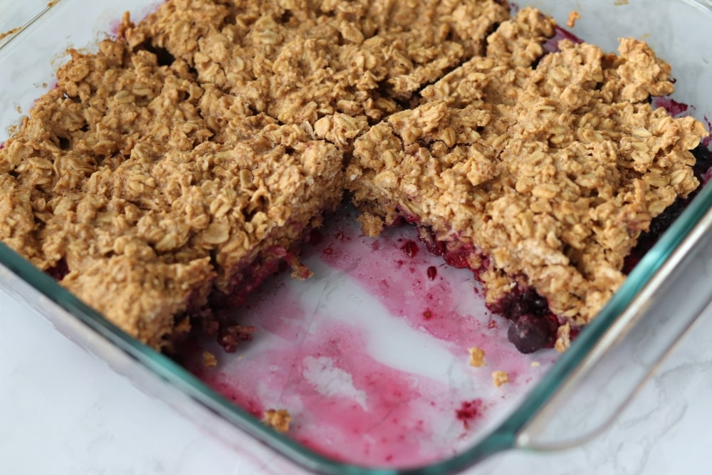 peanut butter jelly baked oatmeal