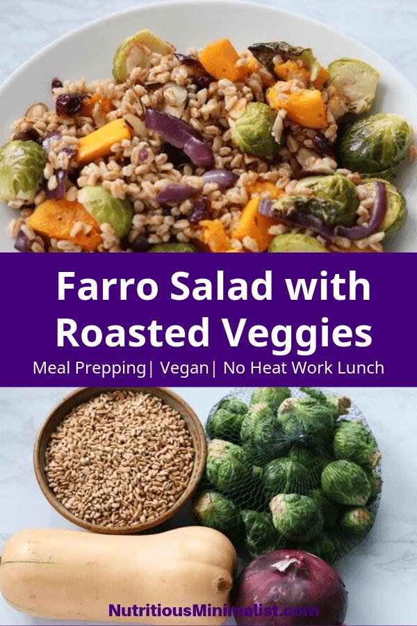 farro salad pin image