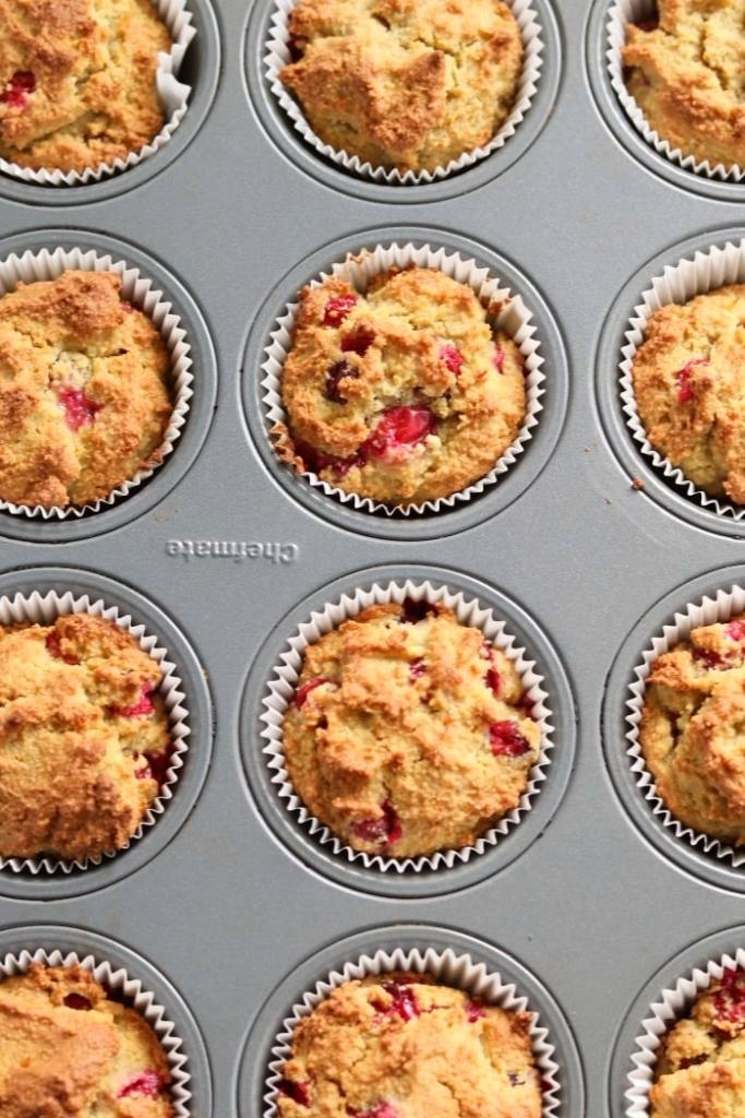 cranberry orange almond flour muffins